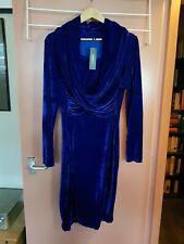 Beautiful Vintage Fashion Mia Bodycon.Dress Size 3XL.Royal Blue, & Stretch