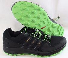 NEW Mens Sz 9 ADIDAS Duramo Cross Trail B39845 Black Green Sneakers Shoes