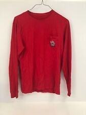 Vineyard Vines Men's T Shirt Small Red Long Sleeve Crew Neck Knotty Graphic
