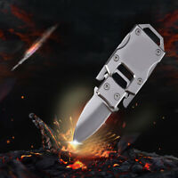 1x Stainless Steel Outdoor Mini Folding Knife Pocket EDC Key Chain Survival Tool