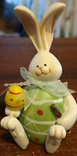 Cottondale Resin Green Egg Bunny w Spring Feet Decorative Easter Holiday Figure