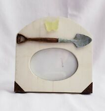 Garden Style Picture Frame - Shovel, Yellow Butterfly, Metal Tip Design