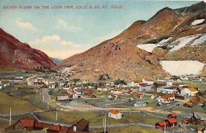 H67/ Silver Plume Colorado Postcard c1913 Loop Trip Railroad Homes Stores  19