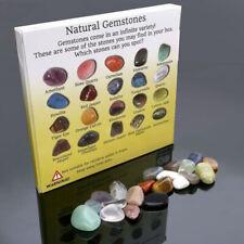 20pcs lot Crystal Gemstone Polished Healing Chakra Stone Collection Display Sets