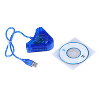 For Dual PS1 PS2 Controller Game Console Joystick to PC USB Converter Adapter