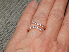 PINK SAPPHIRE BYPASS RING-SIZE O-0.750CTS-WITH 14K GOLD