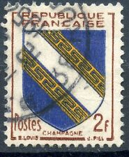 STAMP / TIMBRE FRANCE OBLITERE N° 953  ARMOIRIE / CHAMPAGNE