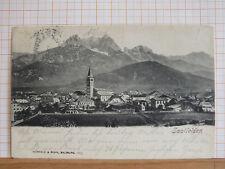 Farblitho - Saalfelden am Steinernen Meer - gel ca 1910 - Zell am See   m3