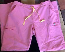 Figs Yola Scrub Pants Size M Medium Neon Pink