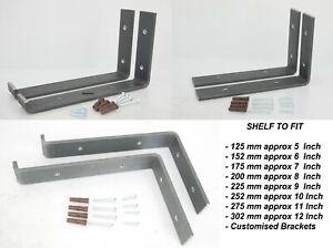 Scaffold Board Metal Brackets Heavy Duty Sturdy Iron Wall Shelf Country House
