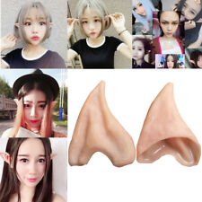 Latex Prosthetic Fairy Pixie Elf Ear Halloween Costume Cosplay Stage Props NEW
