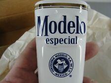 Modelo Especial Ceramic Draft Beer Bar Tap Handle White Gold Leaf Brand New Nib