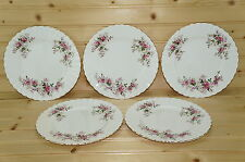 "Royal Albert Lavender Rose (4) Dessert or Pie Plates, 7 1/4"" England"