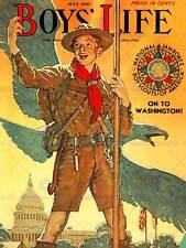 Comics chicos vida Boy Scout Águila Casa Blanca Jamboree USA posterprint ABB6394B