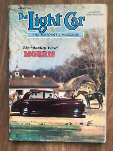The Light Car Magazine March 1950 Morris Front Cover