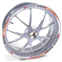 ESES Pegatina llanta Honda plata CBR 250 R 250R 250-R Rojo Blanco adhesivo cinta