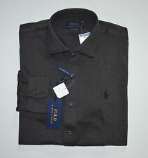 NWT Men's Ralph Lauren Knit Dress Long-Sleeve Shirt, Gray, S, Small