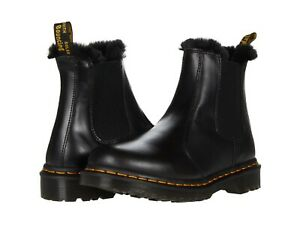 Women's Shoes Dr. Martens 2976 LEONORE Leather Chelsea Boots 26332021 DARK GREY