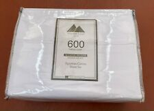 Mayfair Linen 600 Thread Count Sateen Egyptian Cotton King 4 Pc Sheet Set White
