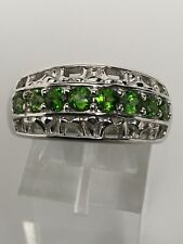 Victoria Wieck Sterling Silver Chrome Diopside Band Ring Size 9