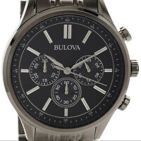 Bulova 43mm Men's Quartz  Water-Resistant 30M Watch, Gunmetal