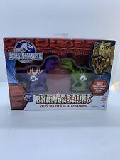 Jurassic World Brawlasaurs: Velociraptor vs. Allosaurus Figure Pack Original Box
