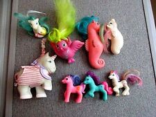 My Little Pony Vintage 1980's 3 Ponies 2 Seahorses 1 Lovebird 1Tara Remco Lot C1