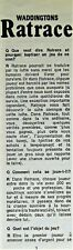 BOARD GAME INSTRUCTIONS RATRACE WADDINGTONS/HOUSE OF GAMES © 1967/1973 IN FRENCH