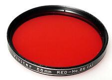 (PRL) VIVITAR ROSSO 55 mm FILTRO FILTER FILTRU FILTRE FILTAR BIANCO NERO BLACK W