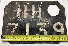 Vintage Veteran Motorcycle Number Plate Lucas Lamp Holder PH BSA Norton Triumph