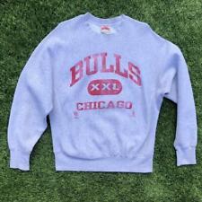 VTG 90s Nutmeg Chicago Bulls Reverse Weave Cut NBA Basketball Sweat Shirt L