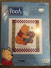 Pooh Right Sort of Hug Flowers Bee Counted Cross Stitch Kit Leisure Arts NEW