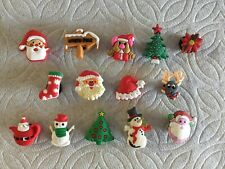 CHRISTMAS SHOE CHARM REINDEER SANTA POINSETTIA TEAPOT CHRISTMAS MOUSE SHOE CHARM