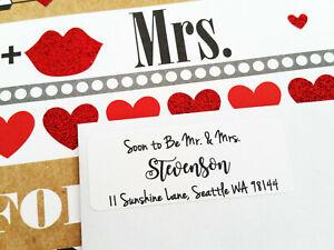 Soon to Be Mr and Mrs Wedding Return Address Labels, Guest Address Labels, RSVP
