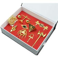 Yu-Gi-Oh! Millennium Puzzle Badge Ring Necklace Pendant Keychain 8pcs Set+Box