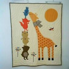 New ListingLand Of Nod Woodland Animal Baby Nursery Crib Bedding Quilt Giraffe Blanket