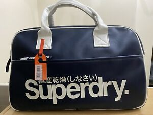 Superdry Coaches Tote Bag - Navy/White BNWT - Ref CT10