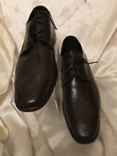 John White Brown Leather Shoes Size 10(44) New