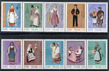finland 1972-73 Ancient and National Costumes in strips, MNH / **