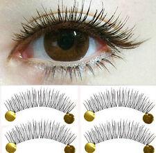 Natural Eye Lash Long Thin Fake False Eyelashes Clear Makeup 10 Pairs #