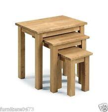 Solid Oak Nest of Tables (Set of 3 ) W50cm x D35cm x H48cm MOOR
