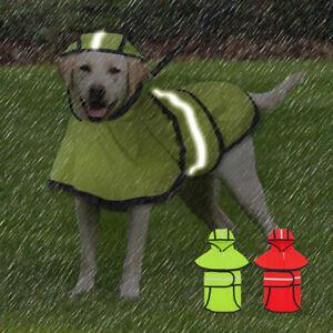Small Large Dog Rain coat Waterproof Raincoats Rain Jacket Reflective Labrador