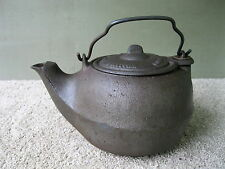 Vintage Water Kettle WM RHYNE CO Primitive Cast Iron Lid Tea Pot, Ringgold GA