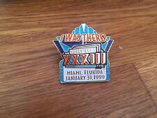 "NFL Ufficiale ""ERO là"" Super Bowl XXXIII pin badge: Broncos Falchi"