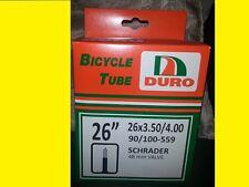 """26X3.50 26""""x4"""" Duro Bike bicycle Tube Schrader 48mm Valve Chopper Beach Cruiser"""
