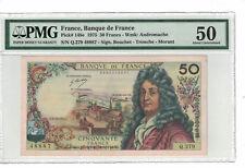 FRANCE 50 Francs 1975 Pick# 148e PMG: 50 About UNC. (#1586)
