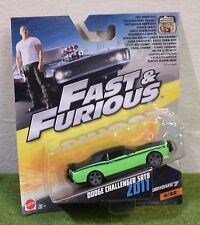 MATTEL 1:55th SCALE DIE-CAST FAST & FURIOUS 5/32 DODGE CHALLENGER SRT8 ZO11