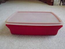 Tupperware ~ RED ~ Fishing ~ Crafts ~ Sewing ~Cash Box ~ Storage ~ 767-14