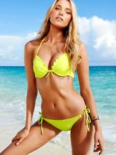 Victoria's Secret Bikini Add-2-Cups Mega Push-Up Bomb Shell Gelb Yellow XS 34