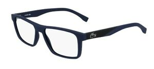 Lacoste mens spectacle frame L2843 col 424 blue matte 56mm with case and cloth